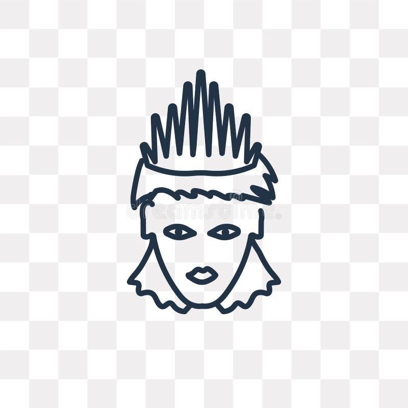 Jaźni zaufania wektorowa ikona odizolowywająca na przejrzystym tle, ilustracja wektor