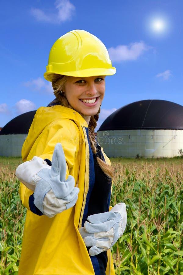 Ja aan biogas! stock foto