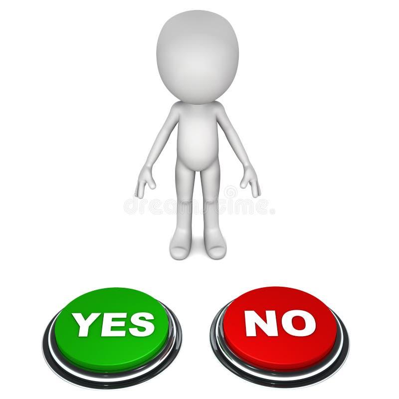 Ja eller inte stock illustrationer