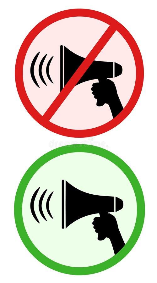Ja en geen geluiden stock illustratie