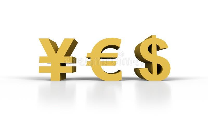 Ja in het symbool van het vormgeld royalty-vrije illustratie