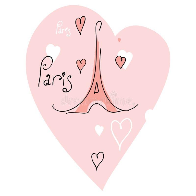 ja ilustracyjna miłość Paris ilustracja wektor