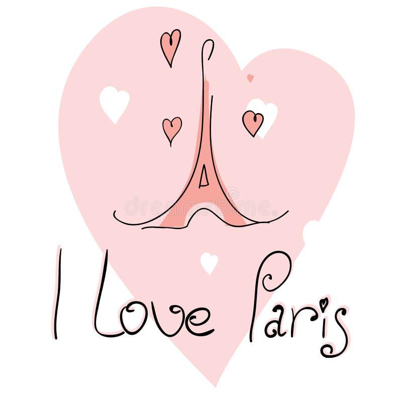 ja ilustracyjna miłość Paris ilustracji