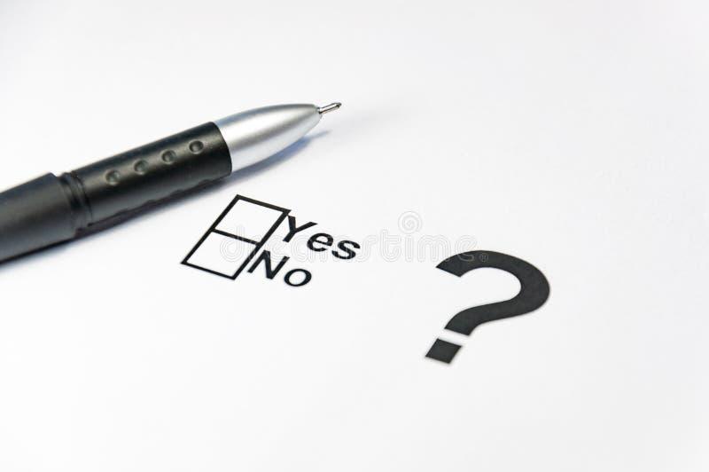 Ja inget avstå flaggan för kontrollasken Val folkomröstning, people& x27; s-val royaltyfri fotografi