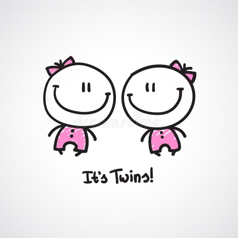 Ja jest bliźniakami royalty ilustracja
