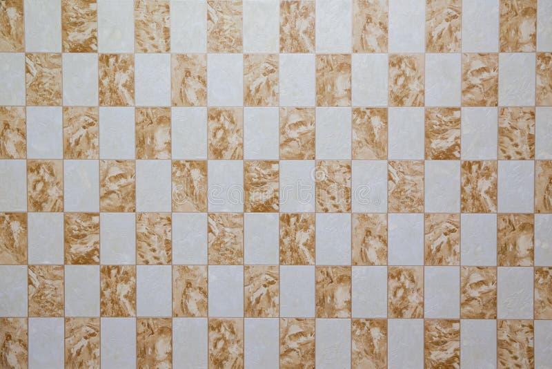 ja jest brown ceramicznej płytki teksturą dla wzoru i tła Płytka z rocznik mozaiką Burzliwość ścian nierówny tło obraz stock