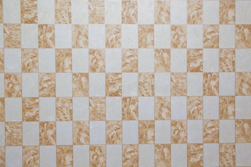 ja jest brown ceramicznej płytki teksturą dla wzoru i tła Płytka z rocznik mozaiką Burzliwość ścian nierówny tło fotografia stock