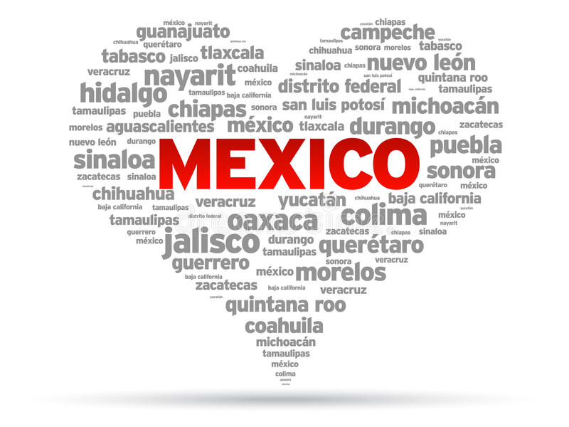 ja kocham Mexico ilustracja wektor