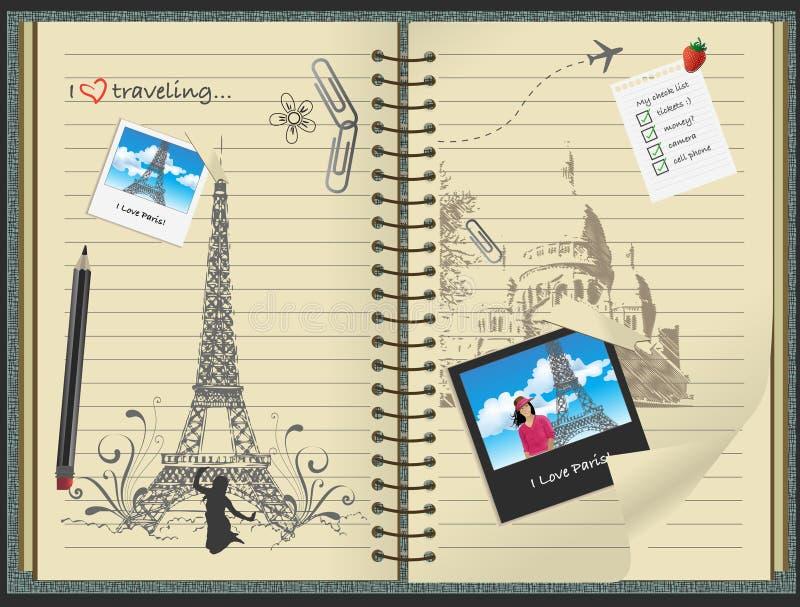 ja kocham Paris ilustracji