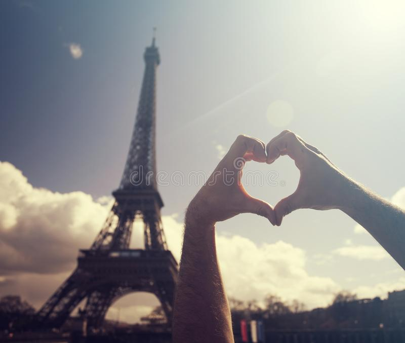 ja kocham Paris obraz stock