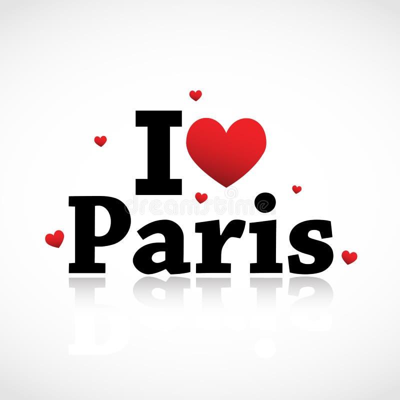 ja kocham Paris ty ilustracji