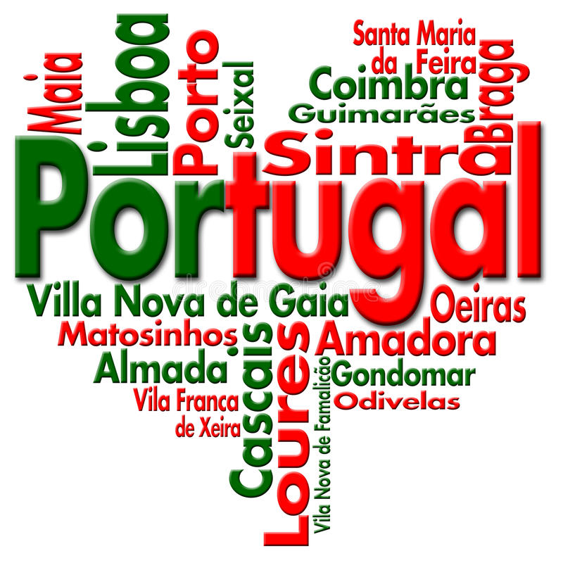 ja kocham Portugal royalty ilustracja