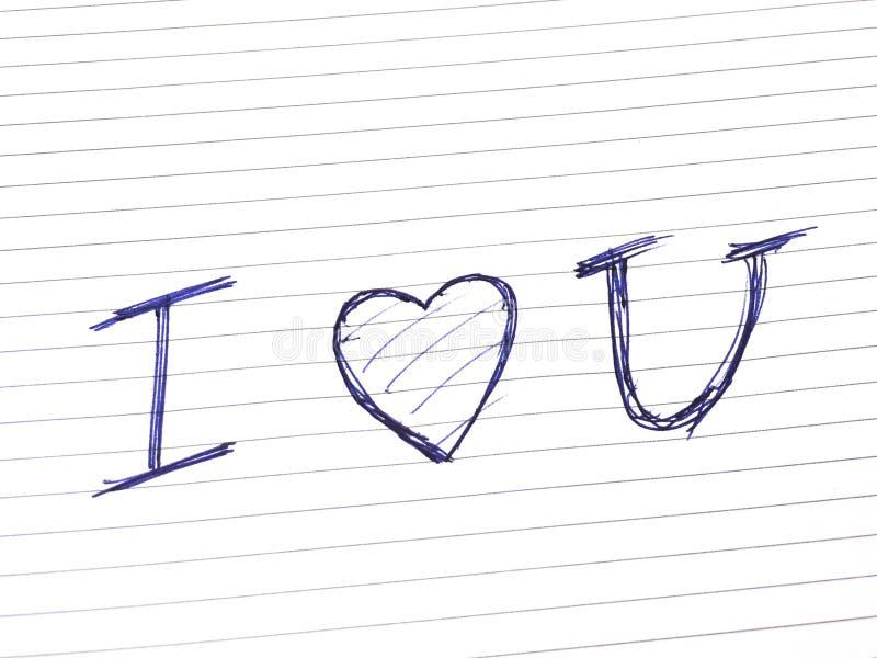 Download Ja kocham ty obraz stock. Obraz złożonej z notepad, miłość - 13328289