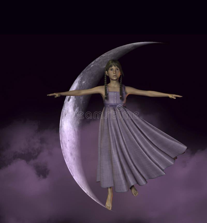 Download Ja księżyc bierze ilustracji. Ilustracja złożonej z nastoletni - 13329453