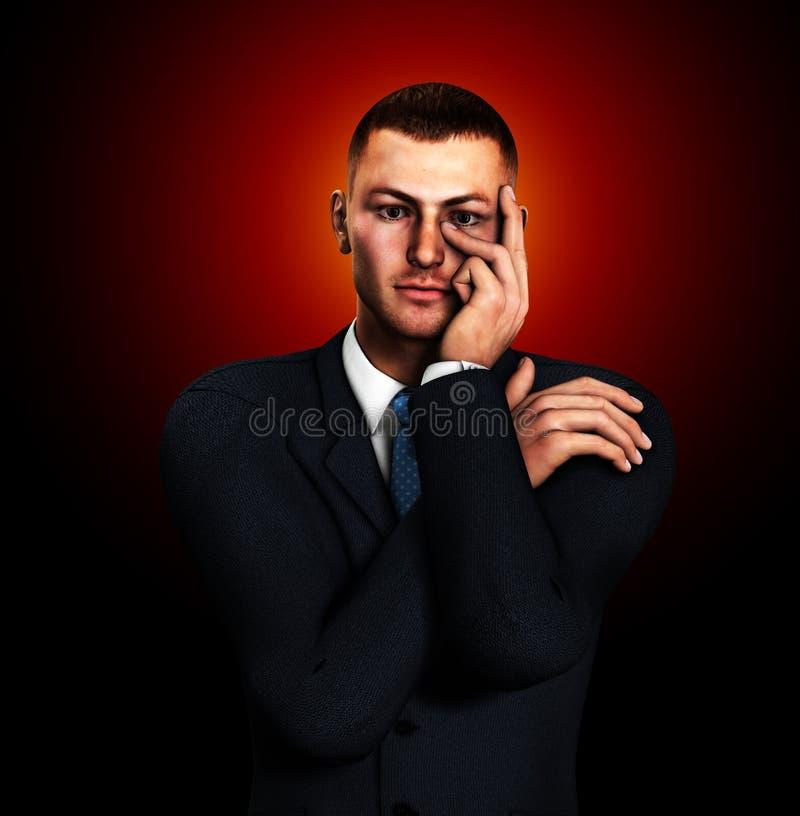 Download Ja nie pewny ilustracji. Obraz złożonej z biznesmen, wybór - 17105988