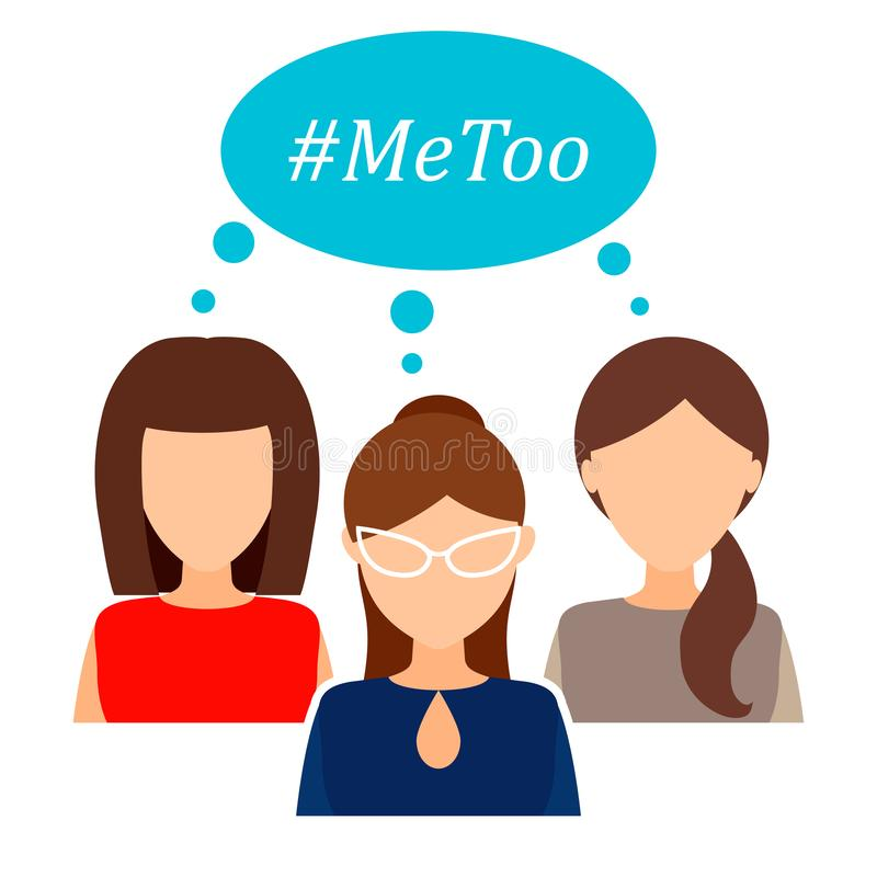 Ja, ruch feministyczny przeciw napaści na tle seksualnym i napastowanie zbyt, royalty ilustracja