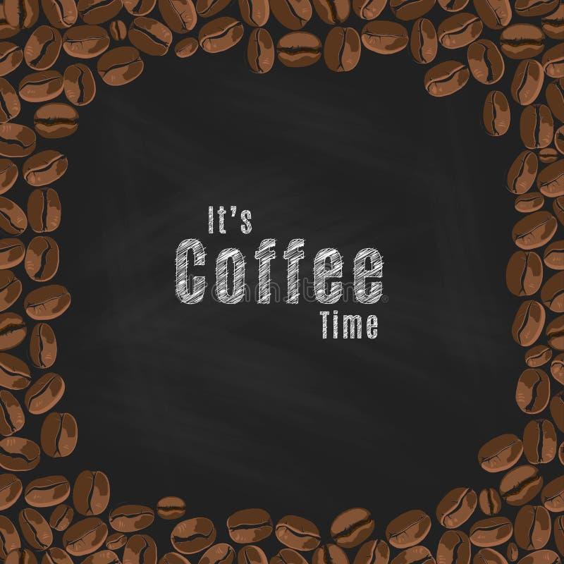 Ja ` s kawy czas ilustracja wektor