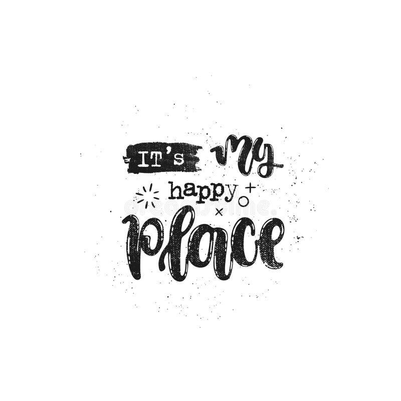 Ja ` s mój szczęśliwy miejsce ilustracji