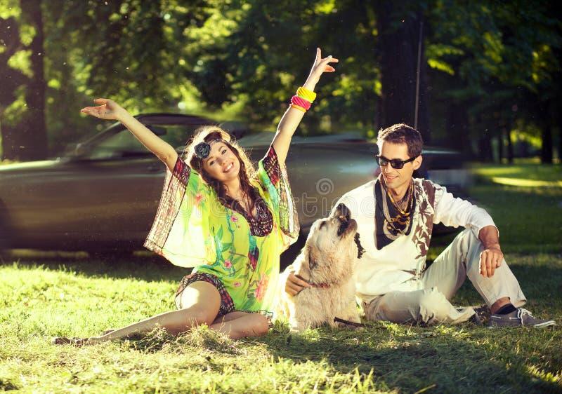 ja target3214_0_ psi szczęśliwi ludzie zdjęcie stock