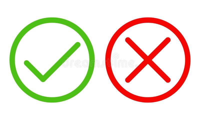 Ja und keine Checkmarkierungen Auch im corel abgehobenen Betrag vektor abbildung