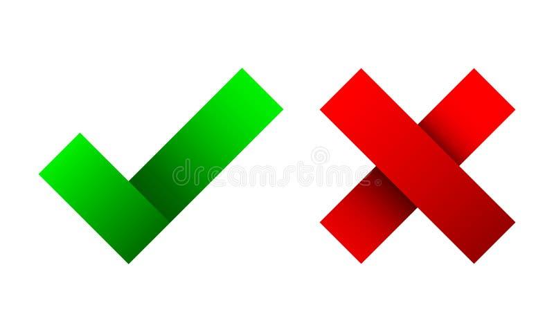 Ja und keine Checkmarkierungen Auch im corel abgehobenen Betrag stock abbildung