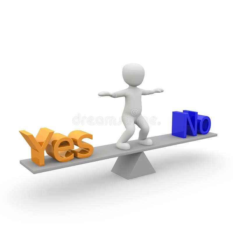 Ja und nein lizenzfreie abbildung