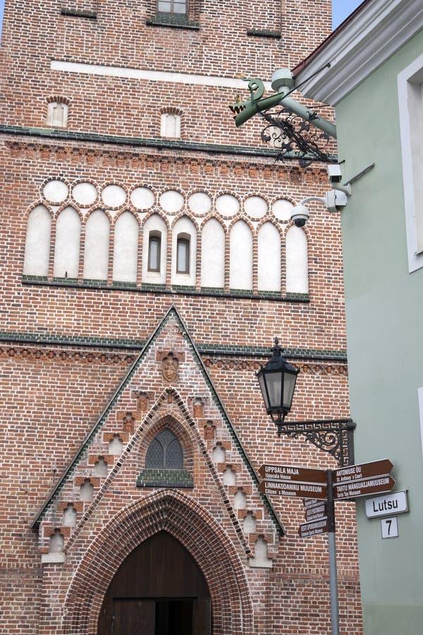 Jaani教会,塔尔图 库存照片