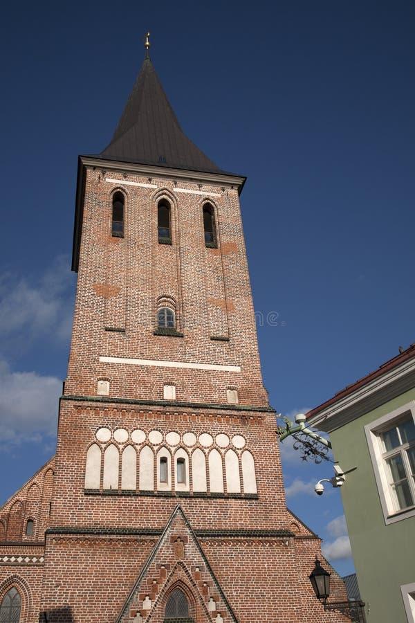 Jaani kościół, Tartu obrazy stock