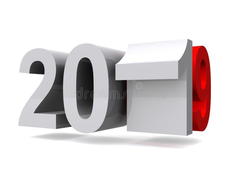 Jaar 2019 stock illustratie