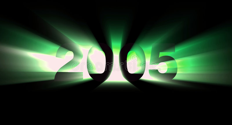 Download Jaar 2005 stock illustratie. Afbeelding bestaande uit blauw - 47455