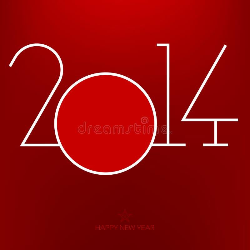 Jaar 2014 royalty-vrije illustratie