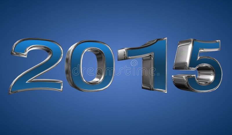 Jaar 2015 stock illustratie