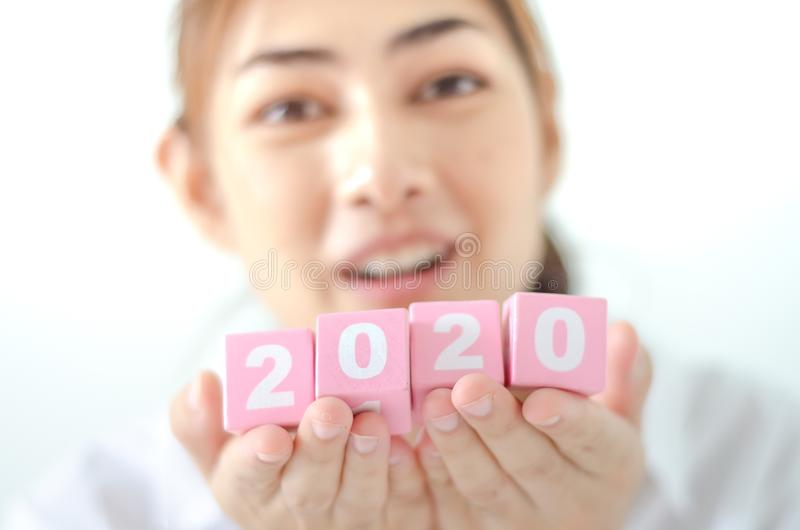 Jaar 2020 concept stock foto