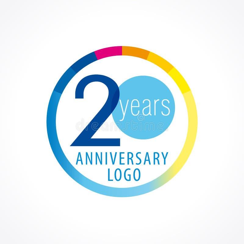 20 jaar om medaille vector illustratie
