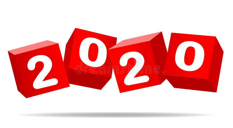 Jaar 2020 vector illustratie
