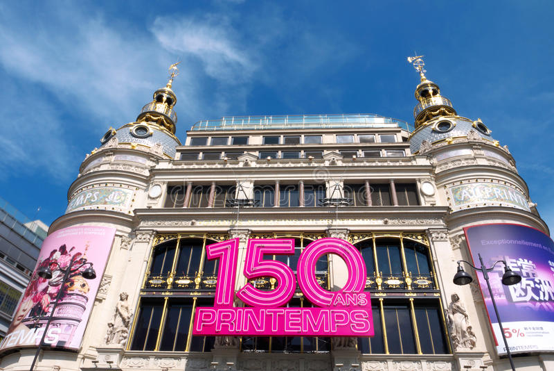 150 jaar van Au Printemps stock foto