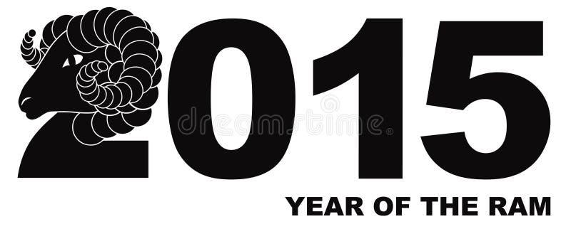 2015 Jaar van Ram Numerals vector illustratie