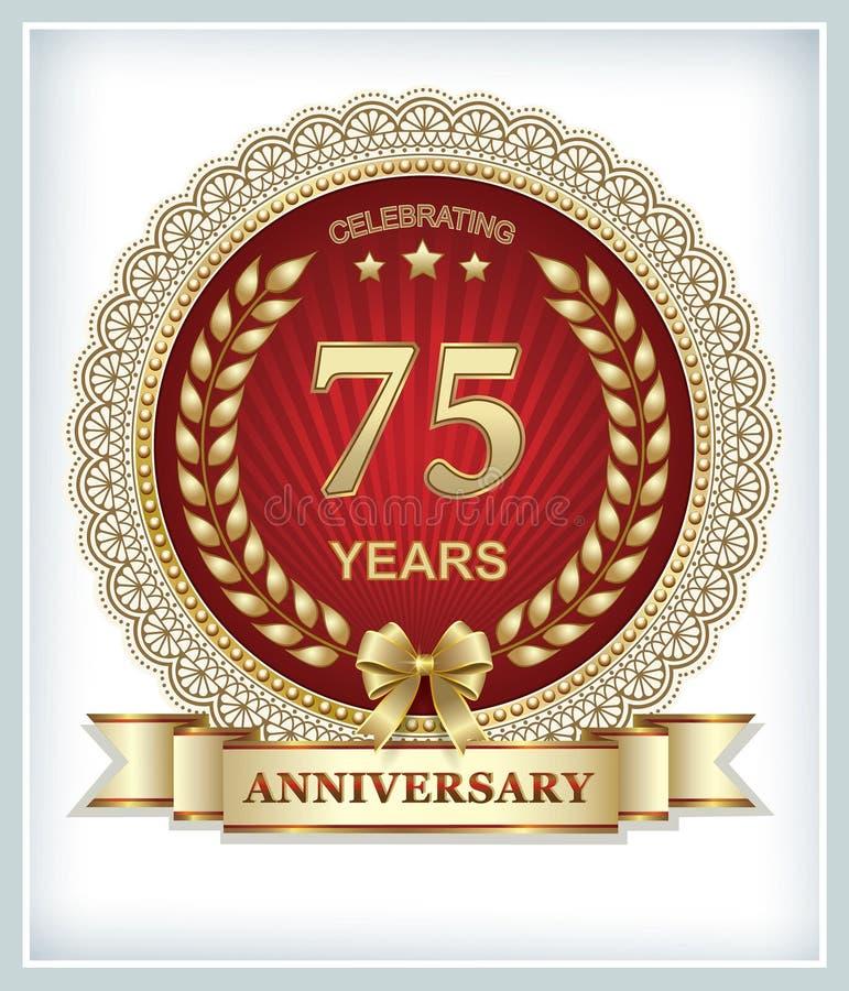 75 jaar verjaardags stock illustratie
