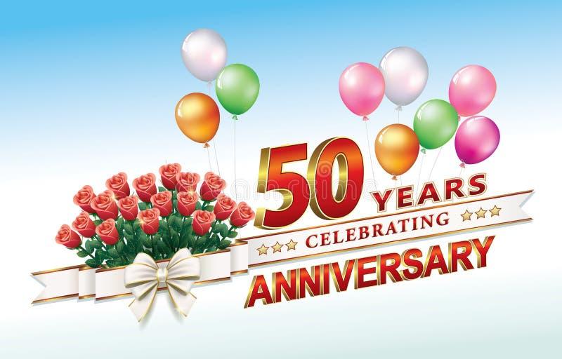 50 jaar verjaardags royalty-vrije illustratie