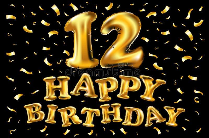 Verbazingwekkend Gelukkige Verjaardag Voor De Uitnodigingskaart Van De 12 DP-71