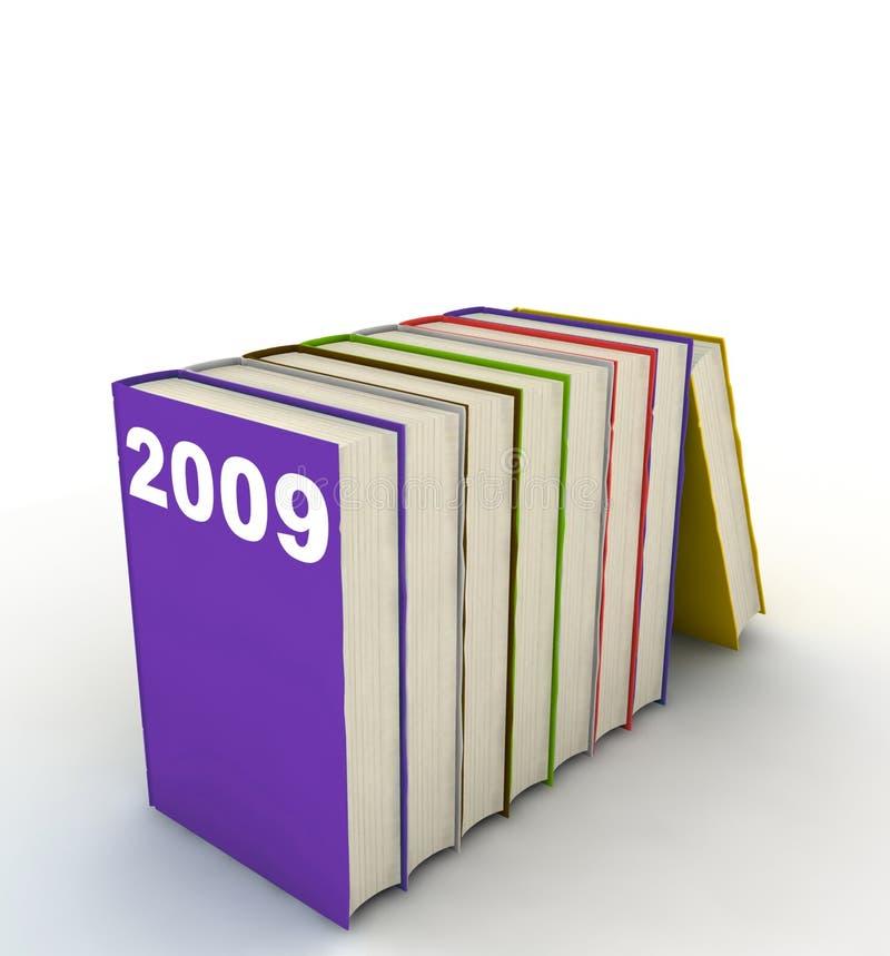 Jaarboeken 2009 royalty-vrije illustratie