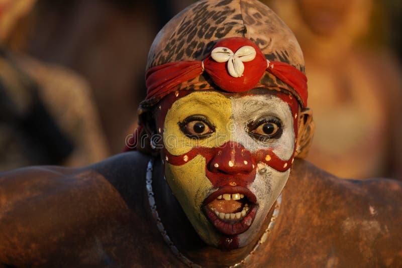 Jaarlijks Carnaval 14 Februari, 2010 van Frans Guyana stock foto's