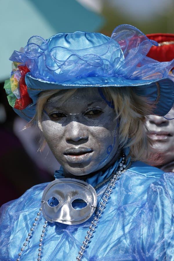 Jaarlijks Carnaval 2011 van Frans Guyana stock foto