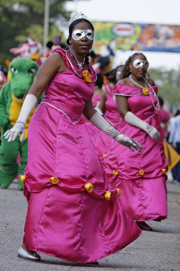 Jaarlijks Carnaval 7 Februari, 2010 van Frans Guyana stock afbeeldingen