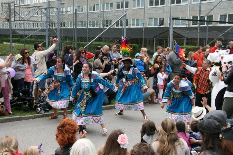 Jaarlijks cultureel festival in Hammarkullen, Gothenburg, Zweden royalty-vrije stock foto