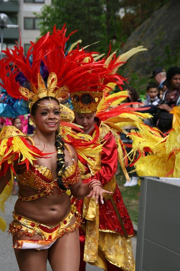 Jaarlijks cultureel festival in Hammarkullen, Gothenburg, Zweden royalty-vrije stock afbeelding