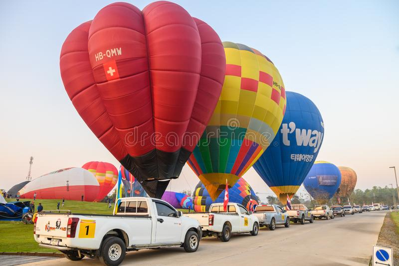 Jaarlijks internationaal ballonfestival in signhapark royalty-vrije stock foto