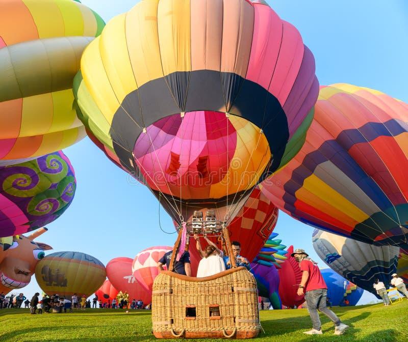 Jaarlijks internationaal ballonfestival in signhapark royalty-vrije stock foto's