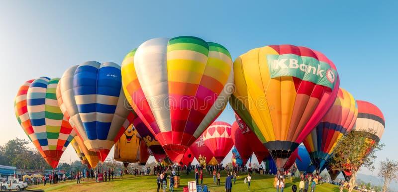 Jaarlijks internationaal ballonfestival in signhapark royalty-vrije stock fotografie