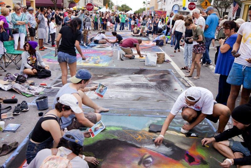 Jaarlijks Meer met een waarde van de Straat van Florida het Schilderen Festival royalty-vrije stock foto's
